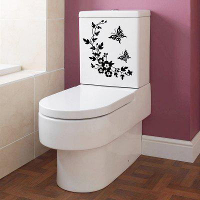 Flower Vine Removable Wand-WC-Aufkleber