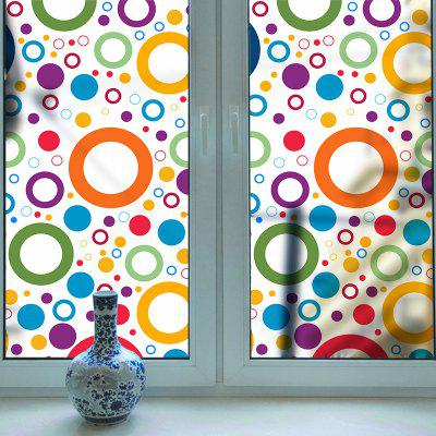 Color Circle Removable PVC Window Film Wall Sticker Matte