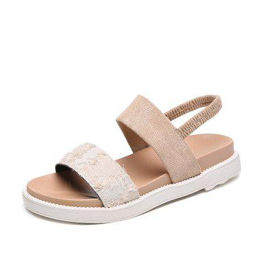 New Flat Bottom Comfort Schoolgirl To Work Fashion Buckle Sandals (Gearbest) Winston-Salem For sale ad