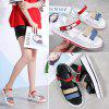 Student Lightweight PU Sole Leather Upper Sandals for Women - WHITE