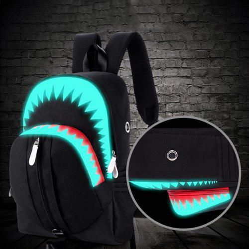 Fashion Big Mouth Pattern Men Backpack with USB Function