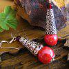 High Quality Handmade Artistic Red Porcelain Drop Earrings - CHERRY RED