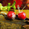 High Quality Handmade Red Porcelain Drop Earrings - LAVA RED