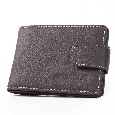 Genuine Leather Men Purse Slim Mini Wallet Card Holder Driving License Bag