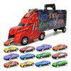 Model Toy Container Truck Simulation Car 12 Alloy Cars with Map and Dice - MULTI
