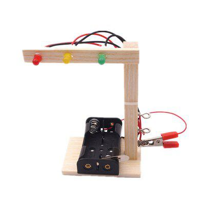 DIY Traffic Signal Light Child Science Education Toy