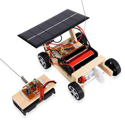 DIY Assembled Solar Remote Control Vehicle Child Educational Toy