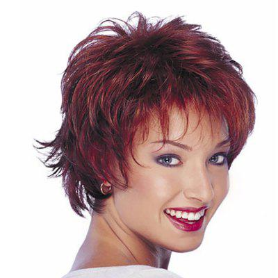 Woman Wine Red Colour Mixture Short Hair High Temperature Synthetic Wig