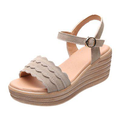 Summer suede casual sandals women shoes (Gearbest) Little Rock Sale b