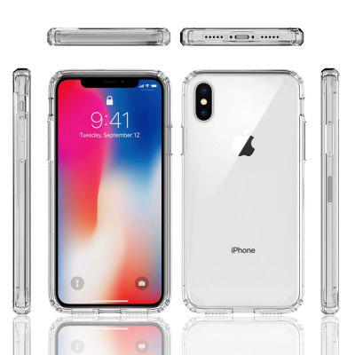 Acrylic Clear Cover Cover-Proof Phone Case voor IPhone X / XS