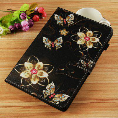 Golden Flower Butterfly Painted Tablet Leather Case for iPad Pro 11 inch(2018)