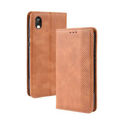 Y-Magnetic Buckle Retro Leather Phone Case for Huawei Honor 8S