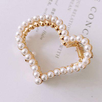 Pearl Hairpin Girl Half Ligature Hair Claws