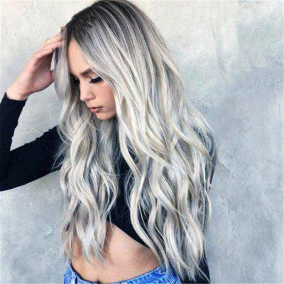 Womens Fashion Full Long Hair Wig Curly Real Synthetic Hair Wavy