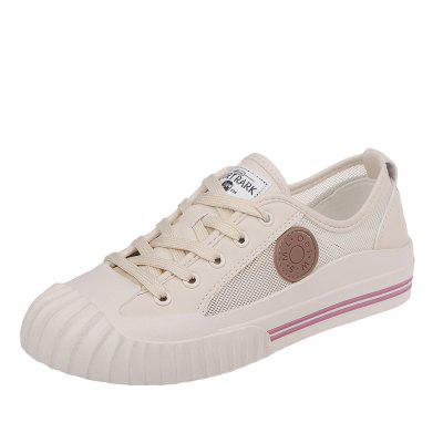 Flat Bottom Lacing Style Women Casual Shoes 9086