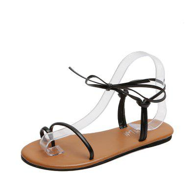Flat-bottomed Tethered Female Sandals