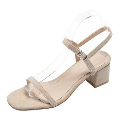 Coarse-heeled Square Head Female Sandals (Gearbest) Simi Valley Sale b