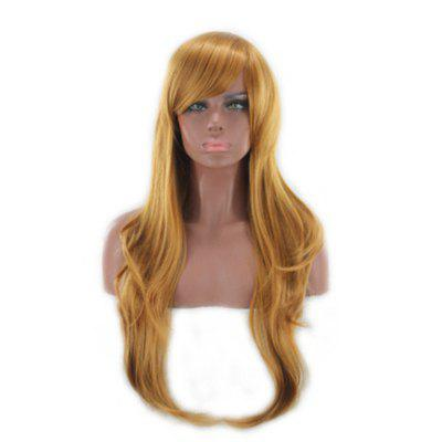 Europe and America Rose Net Golden Long Curly Face Fluffy Golden Female Wig
