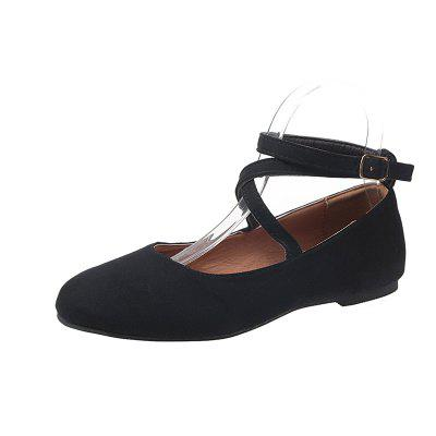 Comfortable Flat Bottom Buckle Women Shoes