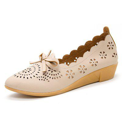 Flat Bottom Hollow Star Women Shoes