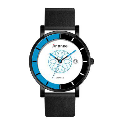 Ananke Men's Leather Waterproof Youth Fashion Color Watch