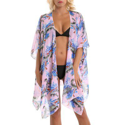 SALYBABY Summer Coconut Tree Pattern Swimwear Cover Up