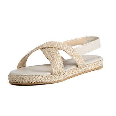 Open Toe Weaving Breathable Flat Heel Sandals in Summer (Gearbest) Waterbury Search and purchase