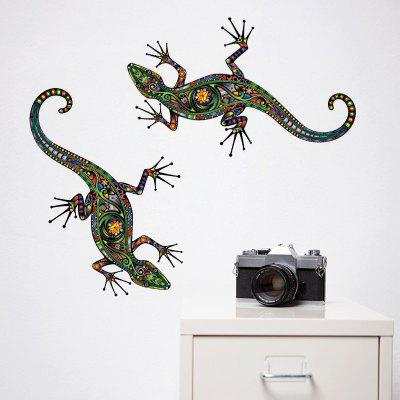 Patterns Gecko Crawling Removable PVC Window Film Wall Stickers