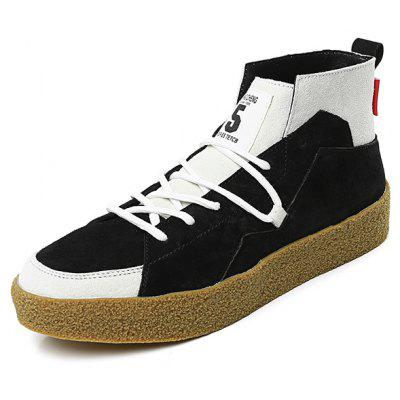 New Boy Sneakers Wear-resistant Sole High-top Casual Skateboarding Shoes for Men