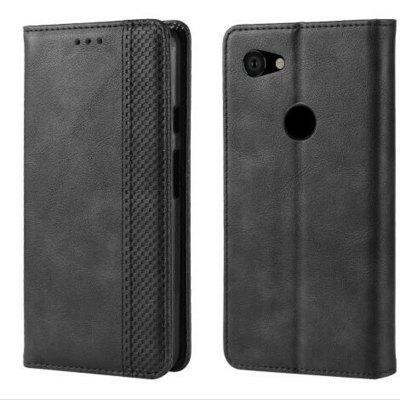 Magnetic Buckle Vintage Leather Smartphone Case for Google Pixel 3A XL