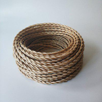 5 Meters Light Gold Fabric Copper Wire 2 x 0.75mm for Indoor Light
