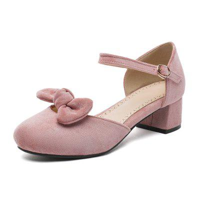 Summer Suede Sweet Butterfly Knot Medium-Heeled Princess Shoes (Gearbest) Santa Ana Search and purchase