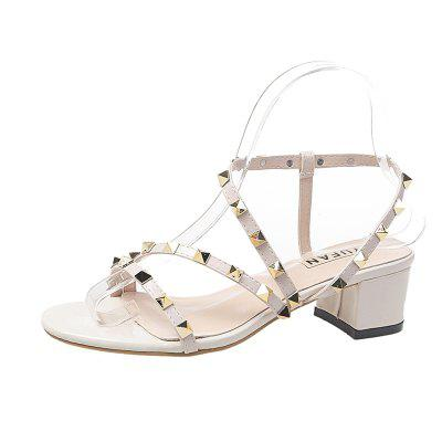 High Heeled Riveted Women Sandals (Gearbest) Stockton products new
