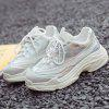 New Increase Height Mesh Casual Sneakers for Women - WHITE