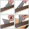 Stainless Steel Guitar Concave Round Collar Straight Edge Ruler - SILVER