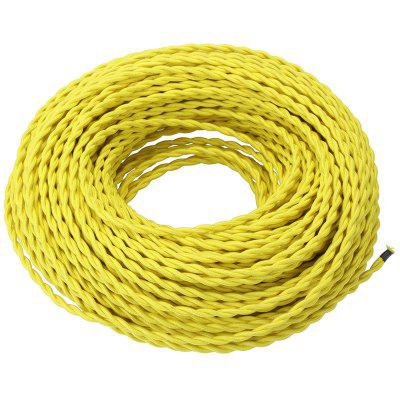 5 Meters Yellow Fabric Copper Wire 2 x 0.75mm for Indoor Light on copper socket, copper ground wire, copper enclosures, copper hardware, copper connectors, copper wire loop, copper diagram, copper painting, copper design, copper siding, copper electrical wire, copper doors, copper circuit board, copper trim, copper fasteners, copper building, copper sheet metal, copper appliances, copper coins, copper cables,