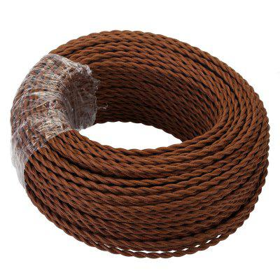 5 Meters Coffee Fabric Copper Wire 2 x 0.75mm for Indoor Light