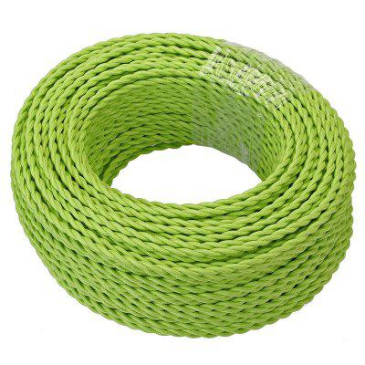 5 Meters Green Fabric Copper Wire 2 x 0.75mm for Indoor Light