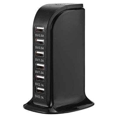 Multi 6 Port USB Charger Desktop Travel Hub-30w 6a Rapid Charging Station