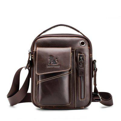 LAOSHIZILUOSEN Leather Men'S One-Shoulder Oblique Bag Tidal Backpack