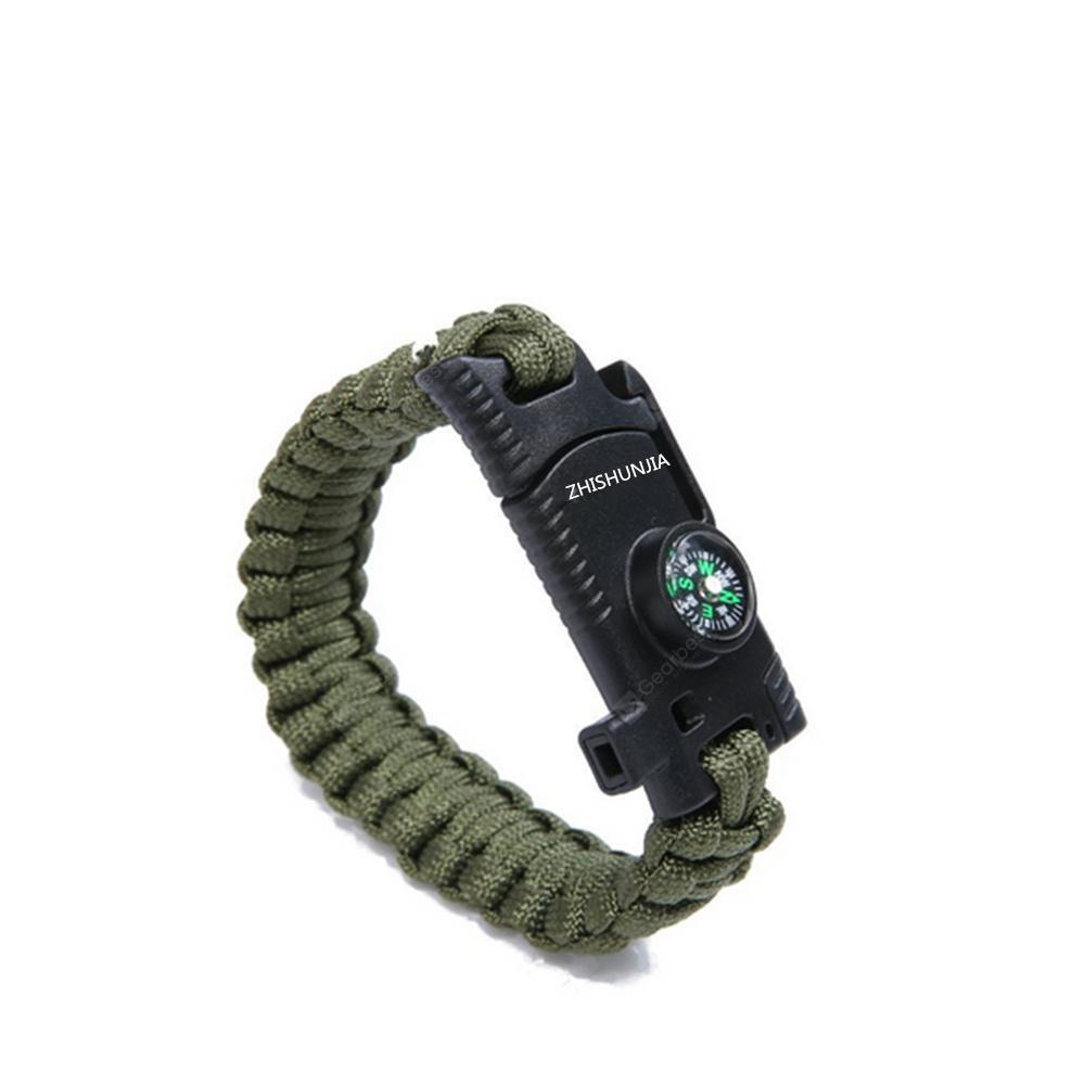 ZHISHUNJIA Multipurpose Emergency Hand Rope Survival Bracelet for Outdoor Travel
