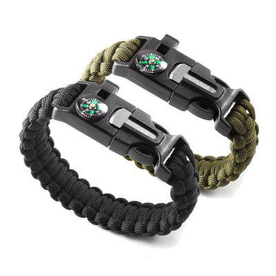 ZHISHUNJIA Multifunctional Umbrella Rope Emergency Bracelet for Outdoor Survival