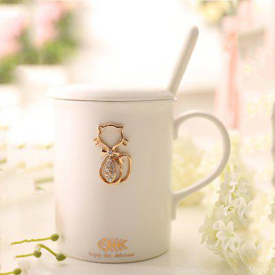 Nordic Ceramic Milk Juice Glass for Lovers