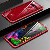 Metal Tempered Glass Arc Phone Shell For LG G8-2 Cameras - RED