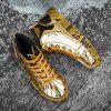 2019 New Male Flats Sneakers Gold Man Youth High Top Boots Hip Hop Shoes for Men - GOLD