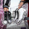 2019 New Male Flats Sneakers Gold Man Youth High Top Boots Hip Hop Shoes for Men - SILVER