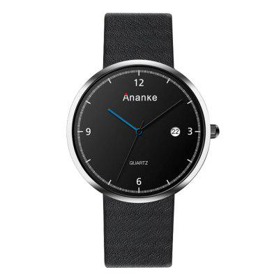 Ananke Men's Simple and Fashionable Quartz Waterproof Watch