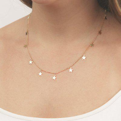 Silver Gold-Color Chain with Star Charm Necklace