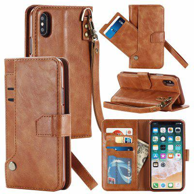 Wallet Phone Case for iPhone X/XS Detachable Leather Magnetic Buckle Slim Cover