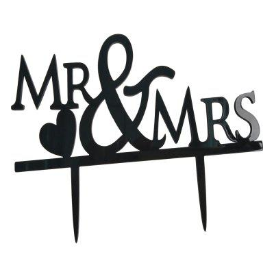 FEIS Mr Mrs Simple and Easy Lettera Inserto per torta